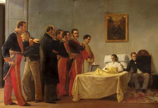 Muerte de Simón Bolívar, por Antonio Herrera Toro.
