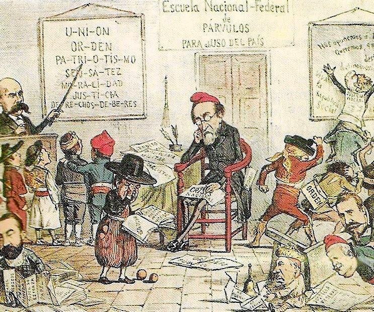 Pi i Margall en una caricatura de la época