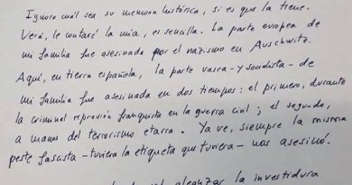 La carta para la historia de España de José María Múgica