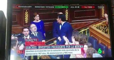 Pedro Sánchez alcanza la investidura, La Sexta lo celebra.
