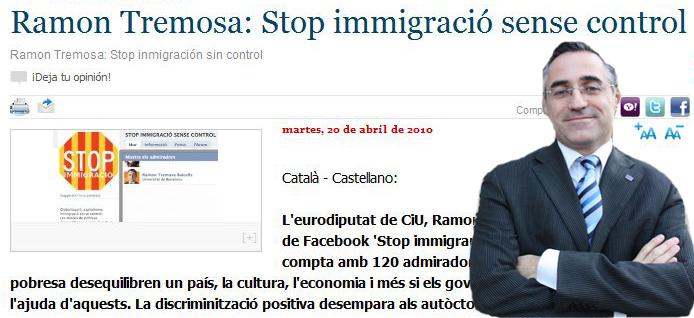 Ramón Tremosa de CIU también estuvo acusado políticamente de racista.
