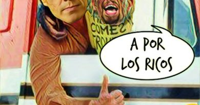 Sánchez y su MiniYo revolucionario desean un #Feliz2020 a todos los contribuyentes y contribuyentas. Por Linda Galmor