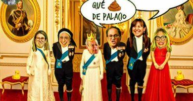 Antes de volverse para el pueblo, la delegación de catalufilandia visitó el Palacio Real. POr Linda Galmor