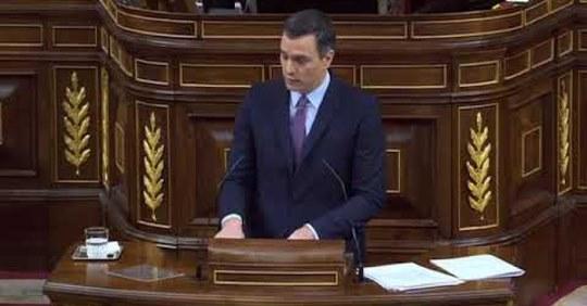 Señor Sánchez, como le prometí voy a recordarle cada semana su discurso de investidura