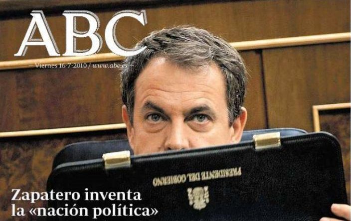 Zapatero afirma en el Senado que la nación política es discutida y discutible