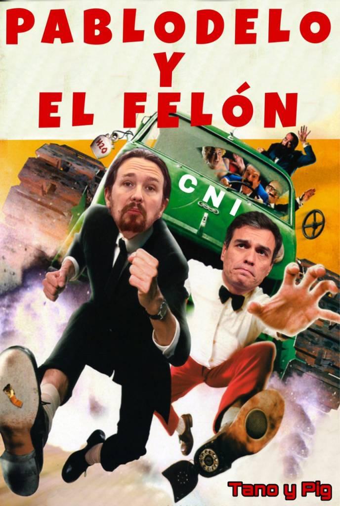 Con el CNI , las televisiones y medios de comunicación en manos de Podemos y sabiendo sus relaciones con el Narcotráficante Maduro, ¿ Podemos ya hablar para llamar a cada cosa por su nombre, de Golpe de Estado? Ilustración de Tano y Pig