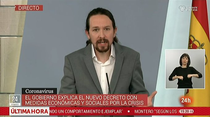Ahí está Iglesias, dirigiéndonos a una dictadura de izquierdas
