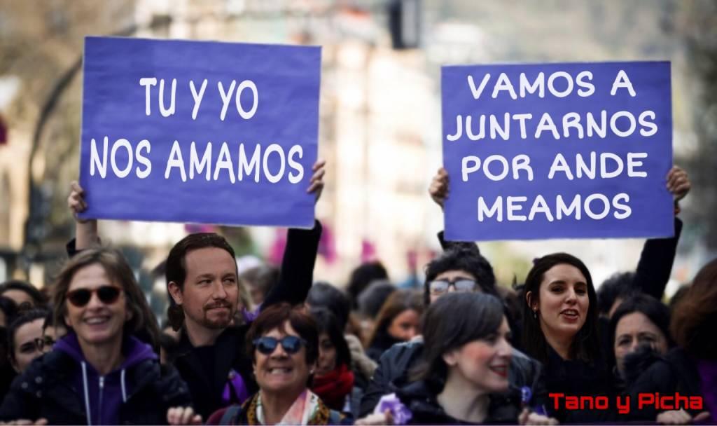 Roguemos a Santiago y Cierra España, que se acuerde de nosotros y baje a poner orden en este gallinero. Ilustración de Tano y Picha