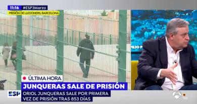 Se está tratando al delincuente Cum Fraude Oriol Junqueras como un líder político y no como un preso que ha cometido un delito muy grave.