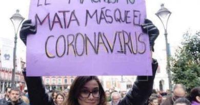 La pandemia es importa un carajo tal como reza la pancarta