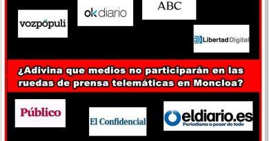 Adivina quienes no participarán en las ruedas de prensa telemáticas en Moncloa. Por Rafael Gómez de Marcos