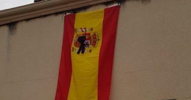 Tras escribir estas líneas ,acabo de colgar mi bandera de España  con un crespón negro hacia la calle donde se dan los aplausos diarios.