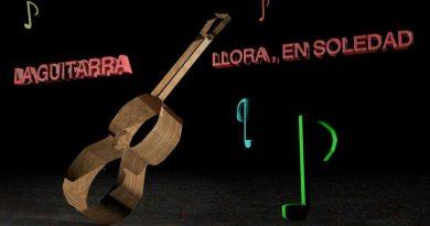 Descansen en paz los muertos. Pasará mucho tiempo hasta que las guitarras recobren la alegría. Ilustración del autor Rodolfo Arévalo