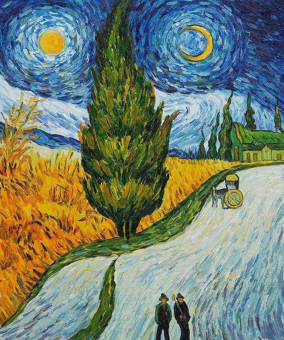 El Ciprés y la necesidad del duelo: Camino de cipreses de Vincent Van Gogh