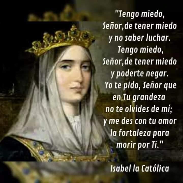 En su día de aniversario recordemos a Isabel la Católica, camino de la Santidad