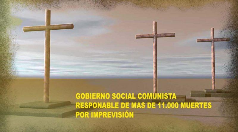 Gobierno social comunista responsable de más de once mil muertes. Imagen de Rodolfo Arévalo