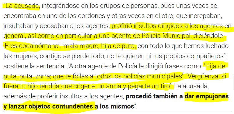 Los podemitas oficializan una fake news al decir que Isa Serra ha sido condenada por intentar detener un desahucio,