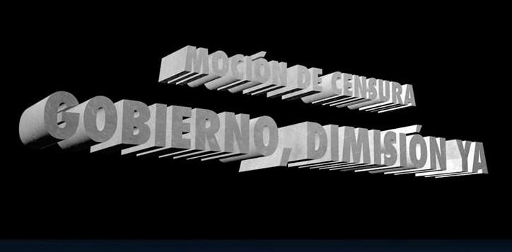 Por la moción de censura y la unidad contra el Gobierno. Imagen en 3-D generada por Rodolfo Arévalo