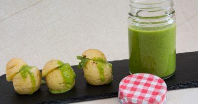 Receta de mojo verde de cilantro. Imagen y Realización de Rodolfo Arévalo