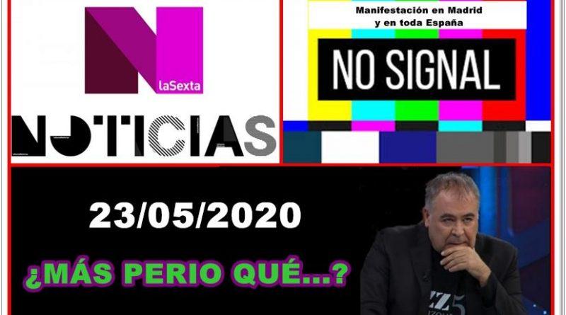 En La Sexta no hubo señal de la manifestación en toda España