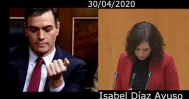 Isabel Díaz Ayuso, recaditos en el Senado para el Presidente Sánchez.