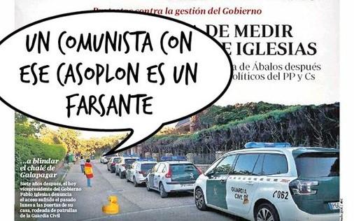 La Guardia Civil corta la calle de acceso al Casoplón del matrimonio Ceaucescu, para evitar el jarabe democrático de los ciudadanos
