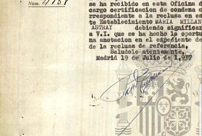 La auténtica Memoria Democrática de María Millán-Astray