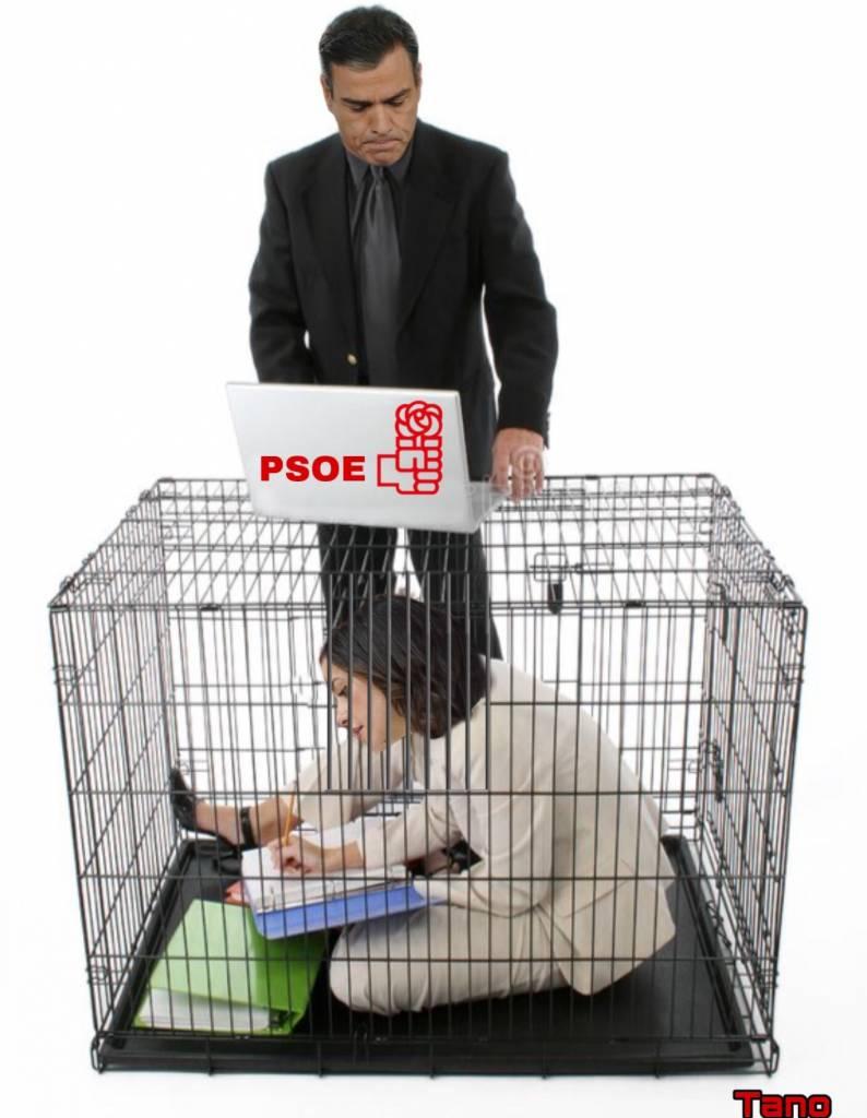 Me temo que Arrimadas está cayendo en la jaula. Ilustración de tano