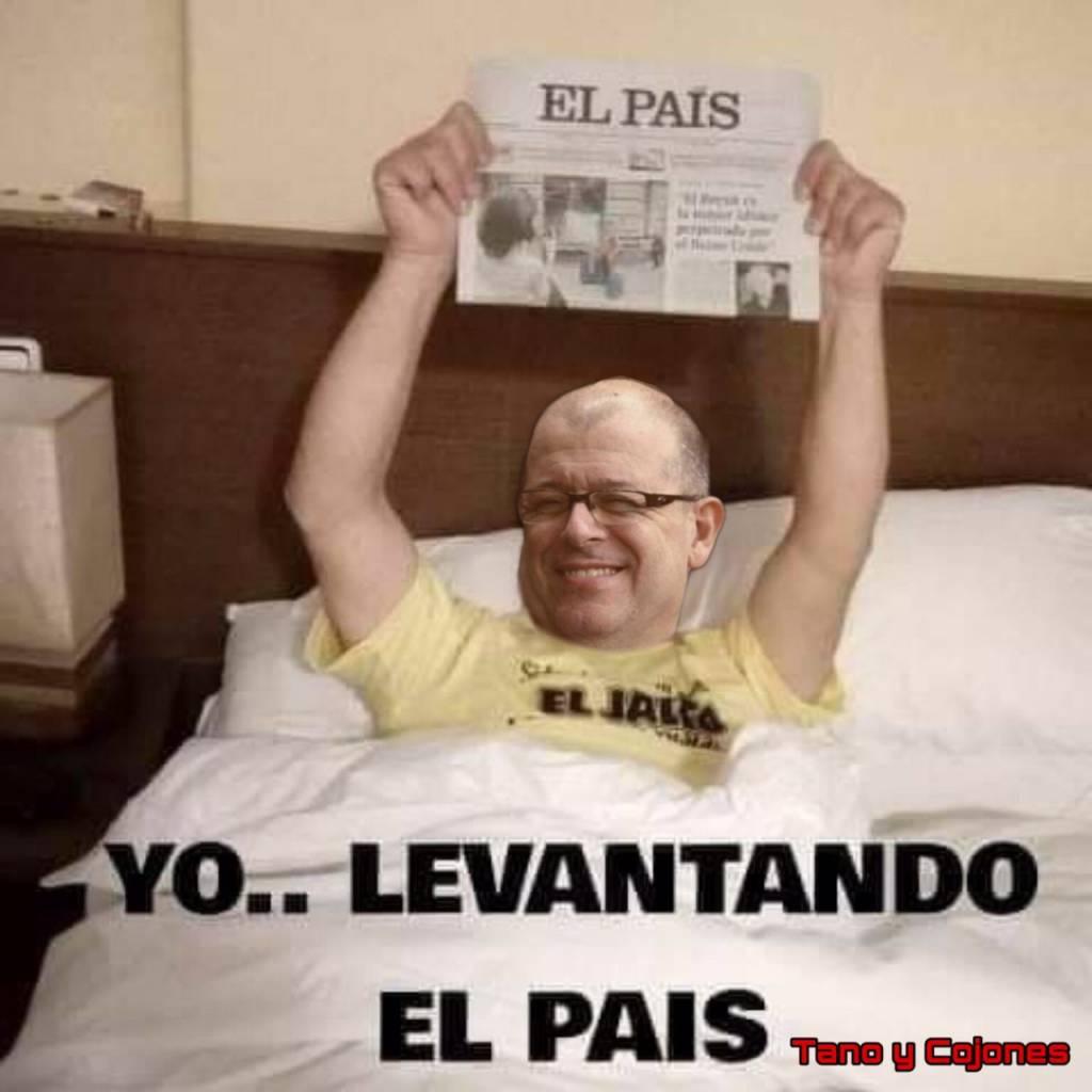 Se creen listos pero son una inteligencia fracasada. En la imagen de Tano y Cojones vemos al socialista José Zaragoza levantado el país.