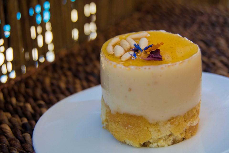 Tartita de queso y miel. Imagen y Realización de Rodolfo Arévalo