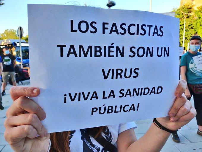 Defiende la sanidad pública frente a los ataques fascistas