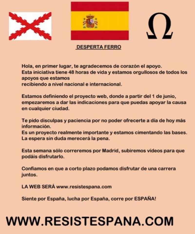Amor a España, su unidad, a las instituciones y a todos sus símbolos