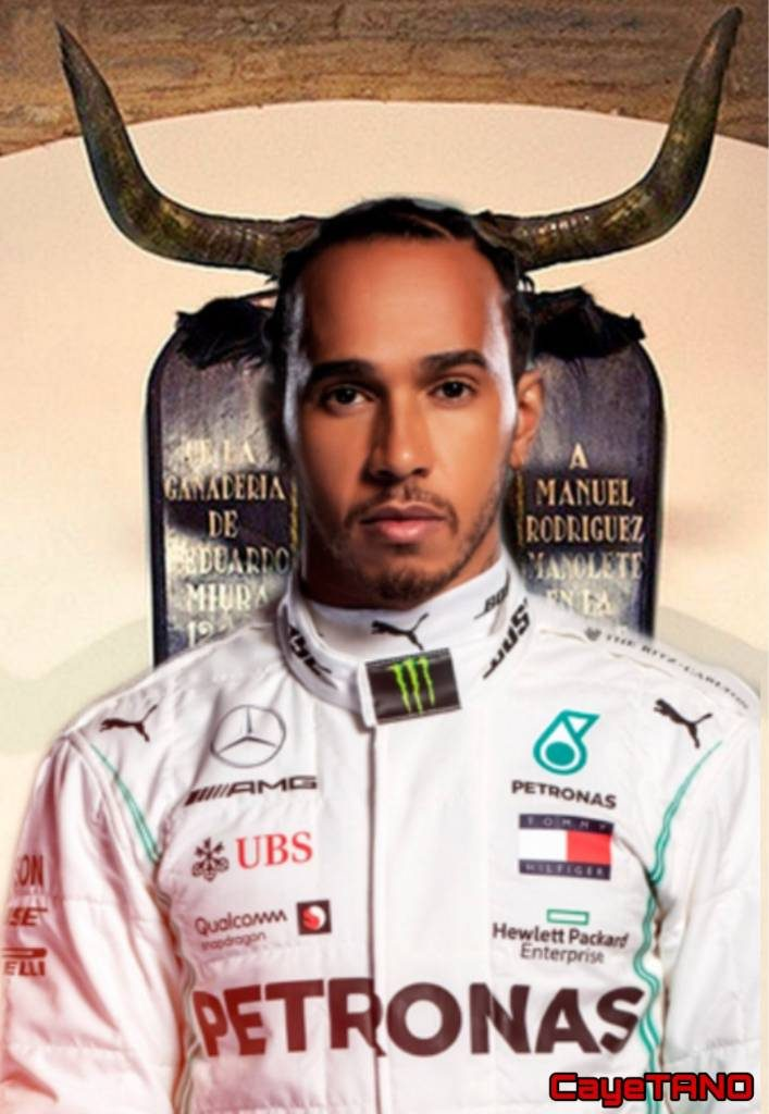 Hamilton, criatura de Dios, te falta mucha pista para ser un hombre de respeto. Ilustración de Tano