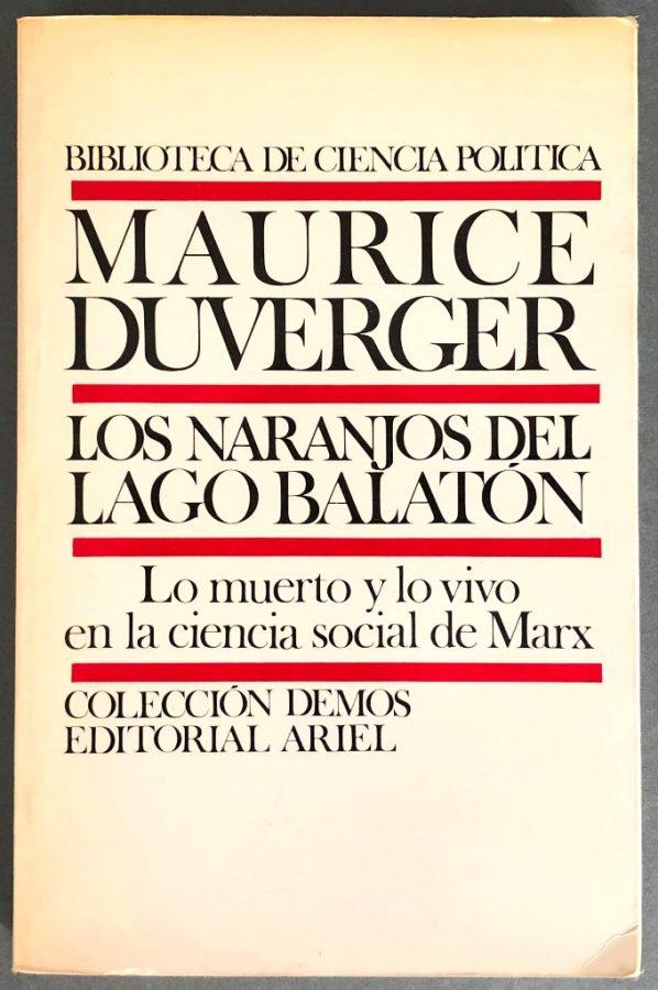 Los naranjos del lago Balatón de Maurice Duverger