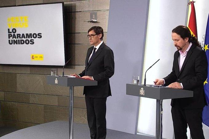 Pablo Iglesias se comprometió públicamente el 19 de marzo a medicalizar las residencias