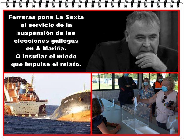 Ferreras pone La Sexta al servicio de la suspensión de las elecciones autonómicas