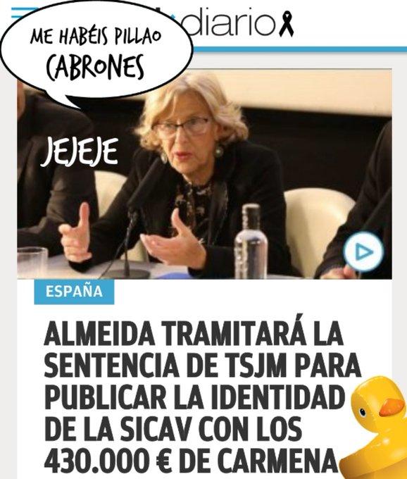 La Carmena Tres en Uno. Por Linda galmor