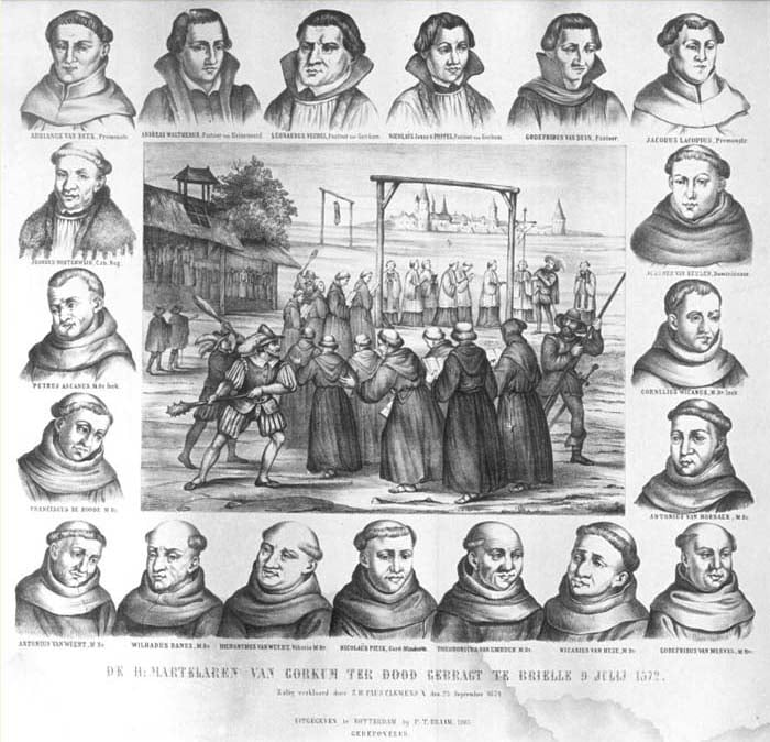 Los diecinueve mártires de Gorcum