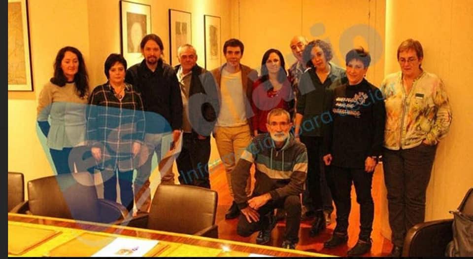 Pablo Iglesias con los etarras de Alsasua
