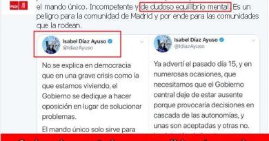 Puente se ha pronunciado en estos términos manipulando una afirmación de la presidenta madrileña