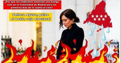 Señora Ayuso, pulse el botón rojo electoral