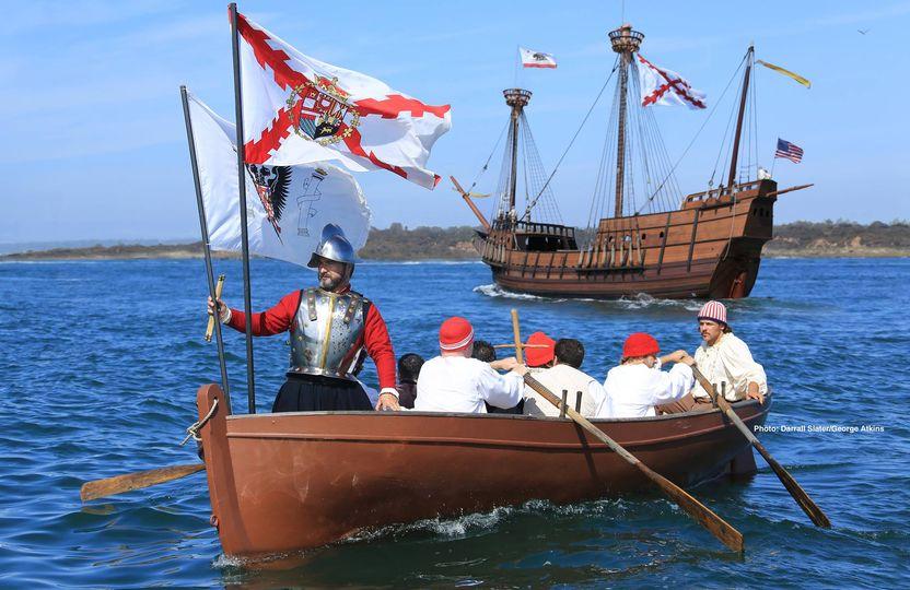 """El 28 de septiembre de 1542, el español Juan Rodríguez Cabrillo se convirtió en el primer europeo en llegar a las costas del actual territorio de California en EEUU en su misión al servicio de la corona española. Su hazaña se recrea en el """"Cabrillo Festival"""" en San Diego #HispanicHeritageMonth http://ow.ly/PdCJ50BAUIE"""