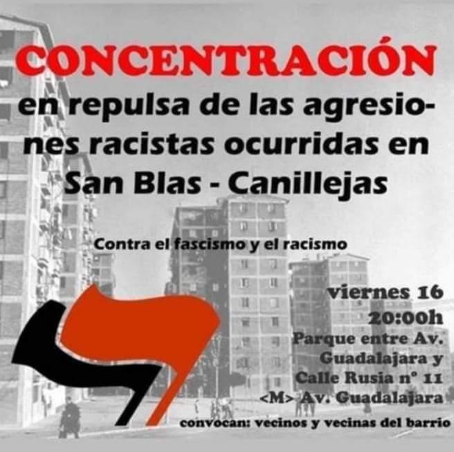 Concentración en el barrio de San Blas