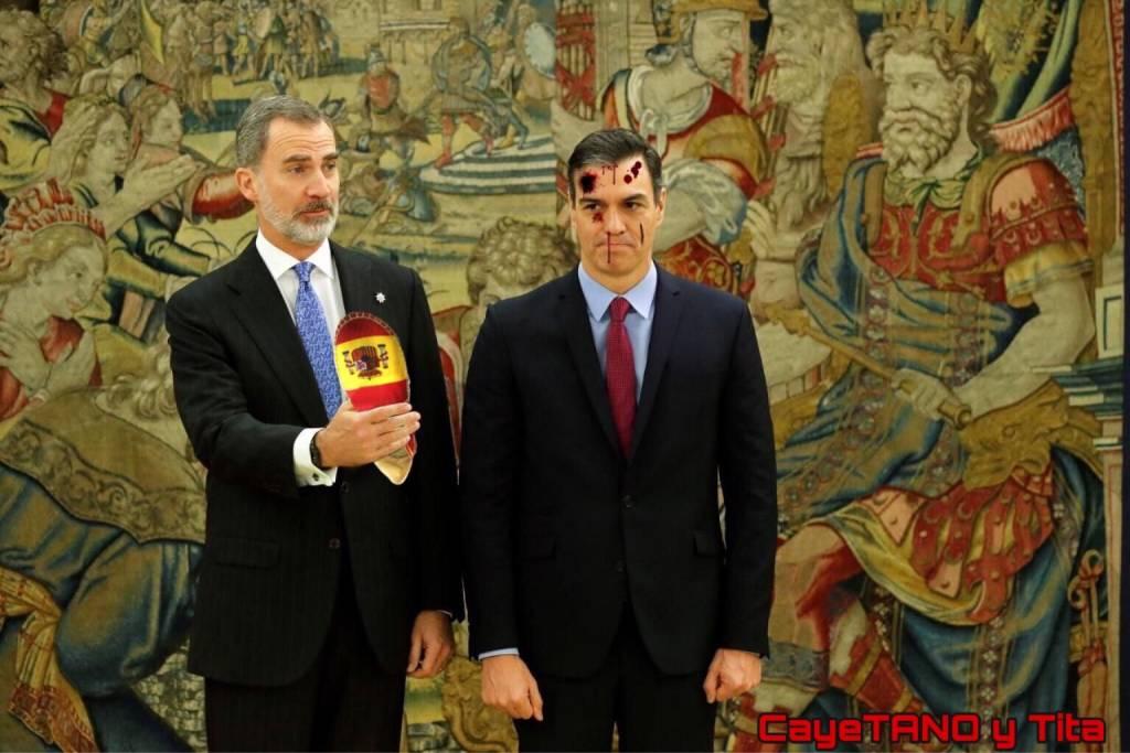 El portón de los infiernos comunistas está abierto. Ilustración de Tano y Tita
