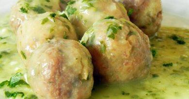 Receta de Albóndigas de Merluza en salsa verde. Por Manuel Artero