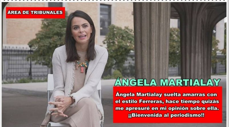 Ángela Martialay, bienvenida al periodismo