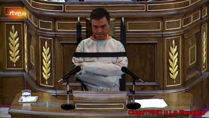 El enfermo ha convertido España en un espectáculo de ópera bufa. Ilustración de Tano