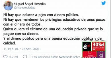 El ofensivo mensaje de un senador socialista contra los niños de la concertada