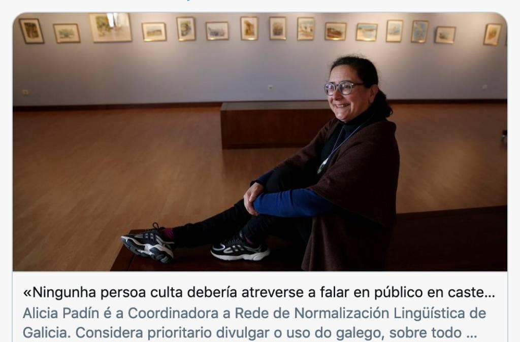 La puñalada al español de Alicia Padín, cargo con responsabilidad en la Xunta