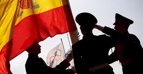 Saludo a la bandera de España